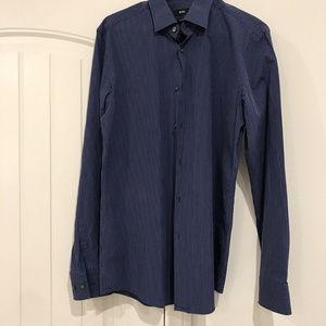 BOSS Hugo Boss Men's Slim Fit Dress Shirt Blue